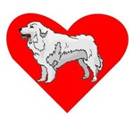 Great Pyrenees Heart