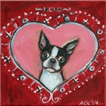 Boston Terrier Valentine xoxo