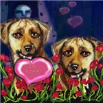 RHODESIAN RIDGEBACK Valentine Heart be mine