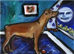 PINSCHER dog art design
