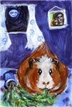 GUINEA PIG Hedgehog & Ferret ART!