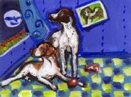 English Pointer Setter Art