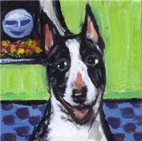 BULL TERRIER brindle Portrait Design