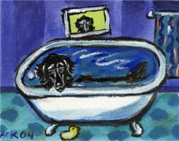 FLAT COATED RETRIEVER bath Design