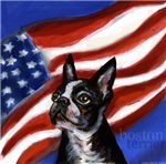 BOSTON TERRIER American Flag