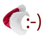Smiley Emoticon - Santa Hat