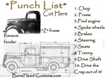 PUNCH LIST