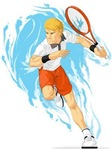 Tennis Player Holding Racket