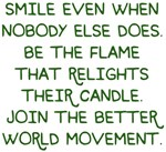 Relight their Candle Better World Movement Design