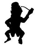 Leprechaun With Pipe Silhouette