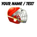 Custom Red Lacrosse Helmet