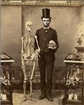 Abraham Lincoln Altered Art With Skeleton