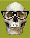 Hipster Skull Wearing Eyeglasses Ironic Goth Nerd