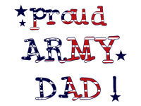 Patriotic Proud Army Dad T-shirts