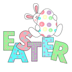 Bunny With Easter Egg T-shirts and Gifts