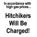 Hitchikers Will Be Charged