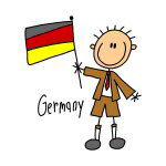 Germany Ethnic Stick Figure T-shirts and Gifts