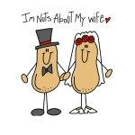 Nuts About My Wife Tshirts and Gifts