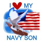 Love My Navy Son T-shirts and Gifts