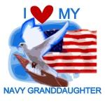 Love My Navy Granddaughter Tshirts and Gifts