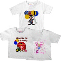 Kids, Baby Theme Birthday T-shirts