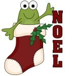 Noel Frog Holiday T-shirts and Gifts