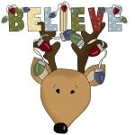 Reindeer Believe Holiday Tshirts and Gifts