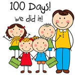 Kids and Male Teacher 100 Days