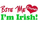 Bite Me Edward I'm Irish Twilight T-Shirts