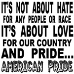 It's not about hate!
