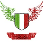 Vintage Italia Flag Wings T-Shirts
