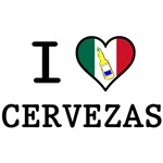 I Love Cervezas T-Shirts 