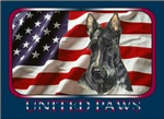 Scottish Terrier Scotty United Paws USA Flag Style