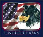 Shetland Sheepdog Tri Sheltie United Paws USA Flag