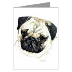 Creative Pug Dog Post Cards Note Cards