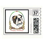 Bulldog Holiday Stamps Cards Prints Posters