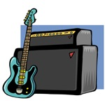 Guitar with Amplifier T-shirts and Gifts