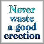 Never waste a good erection