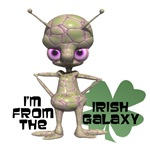 St Patrick's Day  Space Alien