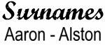 Vintage Surname - Aaron - Alston