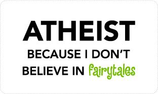 Atheist vs. Fairytales T-shirts