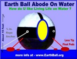 Earth Ball Home On Water