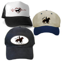 Hats and Caps with various Paso Fino Designs