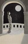 Woman, Moon, Japanese