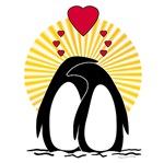 Loving Penguins Sunburst