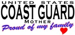 Proud of My Coast Guard Family Mom T-shirts & Gift