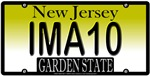 I'M A 10 New Jersey Vanity License Plate Design