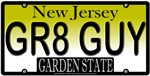 Great Guy New Jersey Vanity License Plate Design