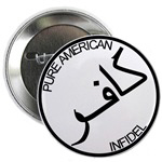 Pure American Infidel Buttons & Magnets