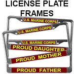 Marine Corps Family License Plate Frames